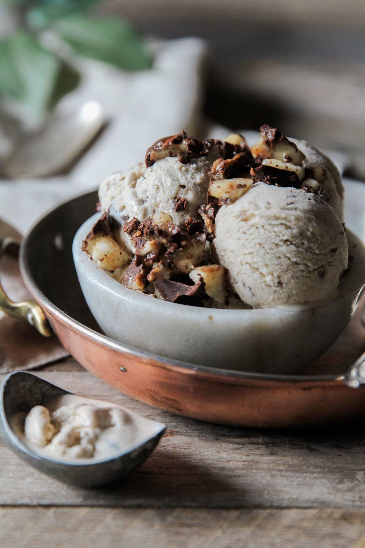 Vanilla Almond Butter Ice Cream with Dark Chocolate Banana ...