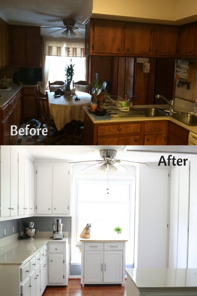 Before and After Kitchen Makeover (Phase One)