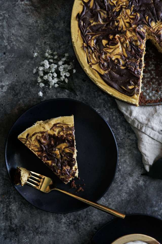 Pumpkin Chocolate Cheesecake: Jessi's Kitchen