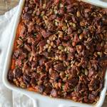 Chipotle Sweet Potato Casserole with Maple Bacon Crumble