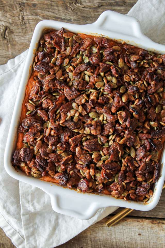 Chipotle Sweet Potato Casserole with Maple Bacon Crumble: Jessi's Kitchen