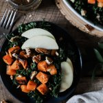Kale and Roasted Butternut Salad with Balsamic Dressing