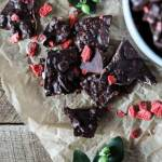 Strawberry Chocolate Almond Bark