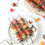 Chicken and Veggie Skewers: Weeknight Cooking for Two