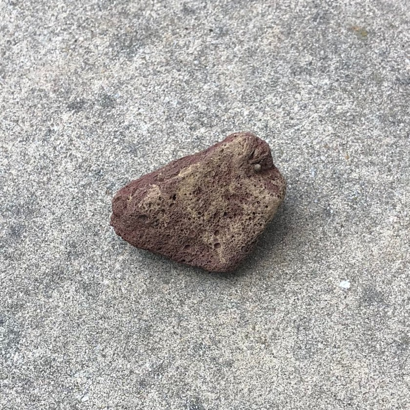 a little red lava stone