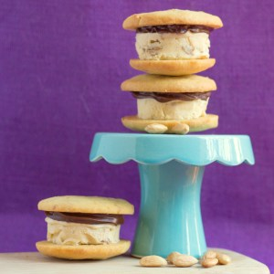 Amarula and Roasted Pear Ice Cream Sandwiches