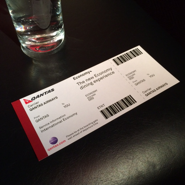 Qantas ticket