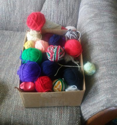 NOT an epic yarn stash.