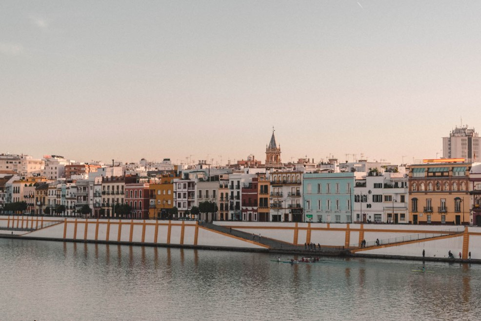 Sunset views of Triana