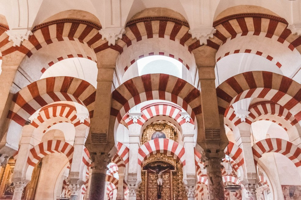 Inside the Mosque-Cathedral of Cordoba