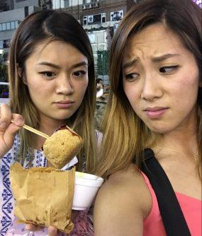 Stinky tofu for $12 HKD.
