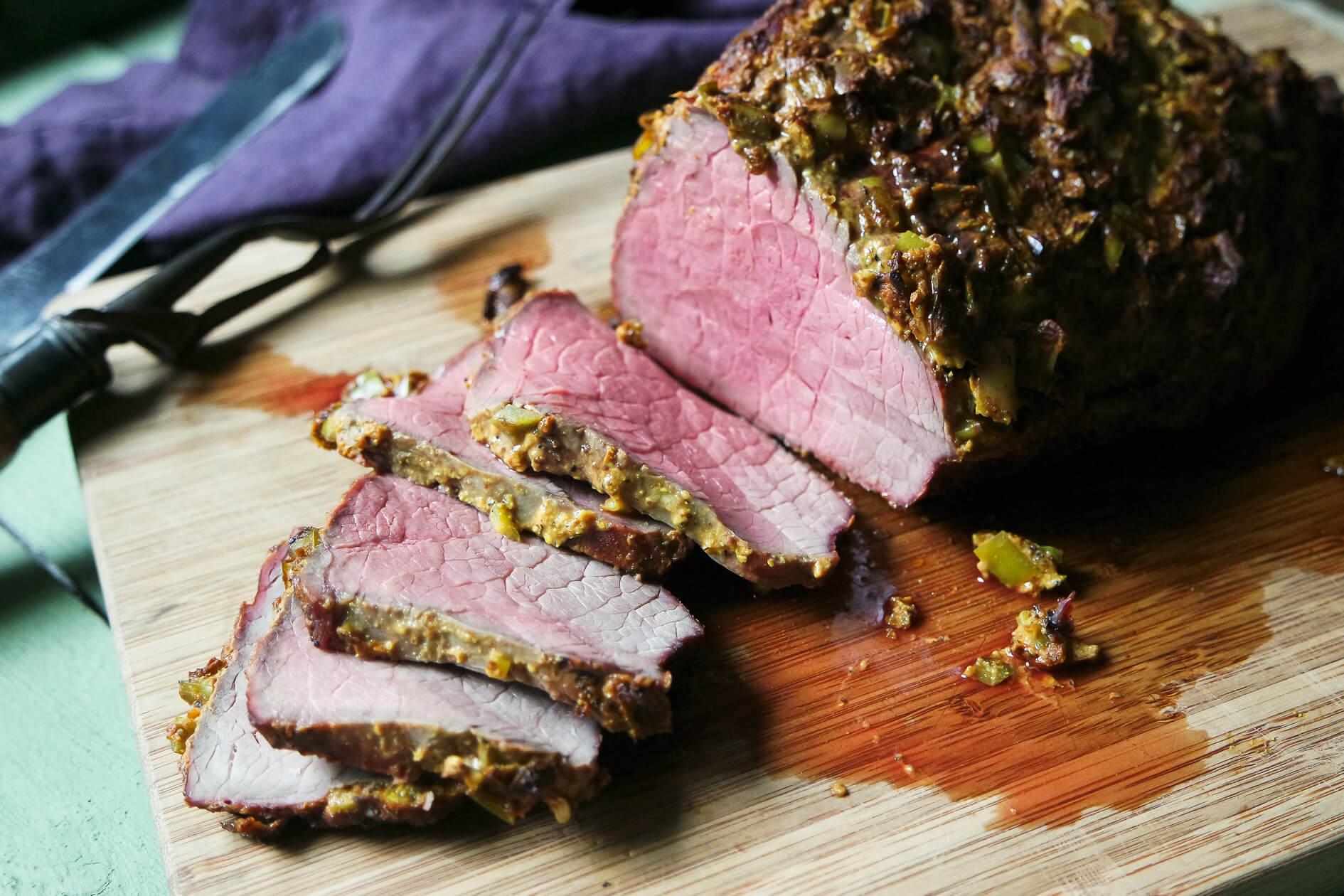 Bottom Round Roast Beef With Hatch Chile Crust Jess Pryles