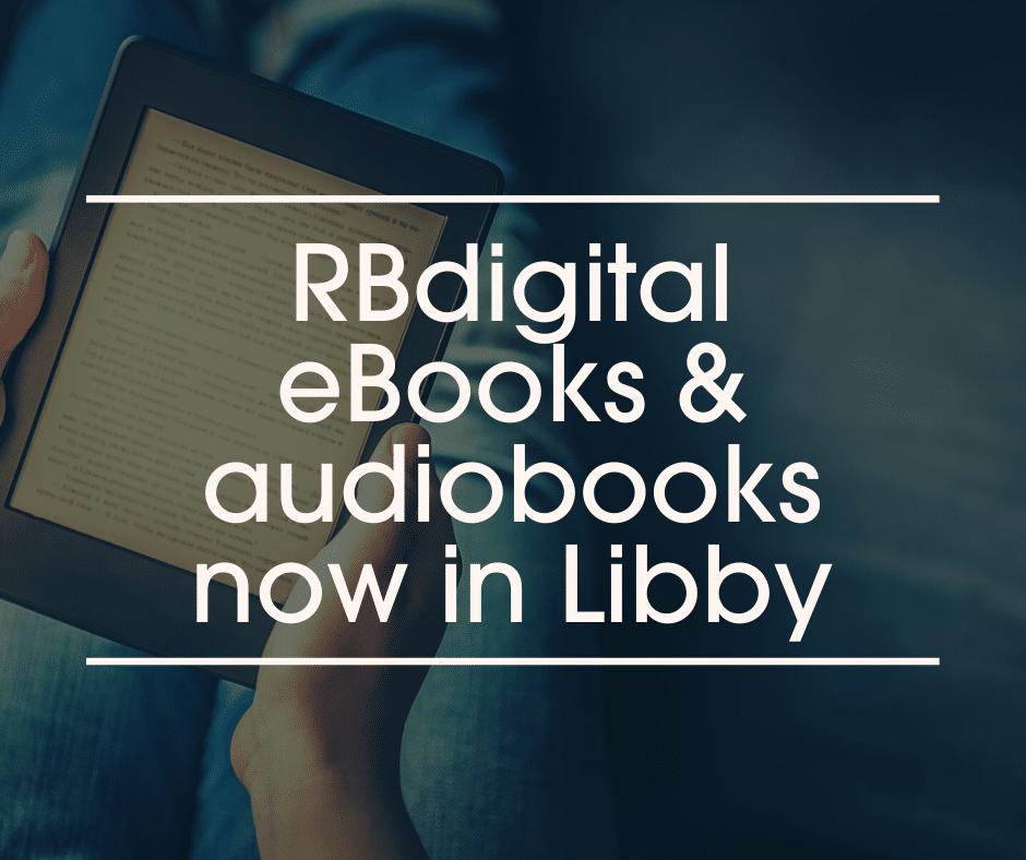 Rbdigital eBooks blog header