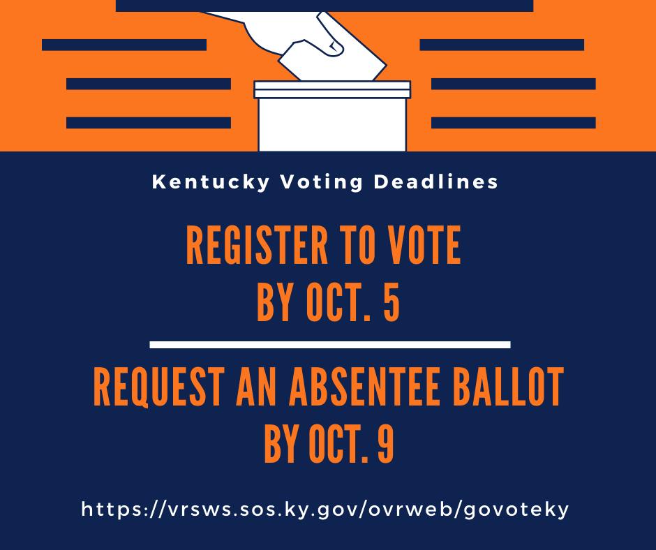 Kentucky Voter Deadline Infographic
