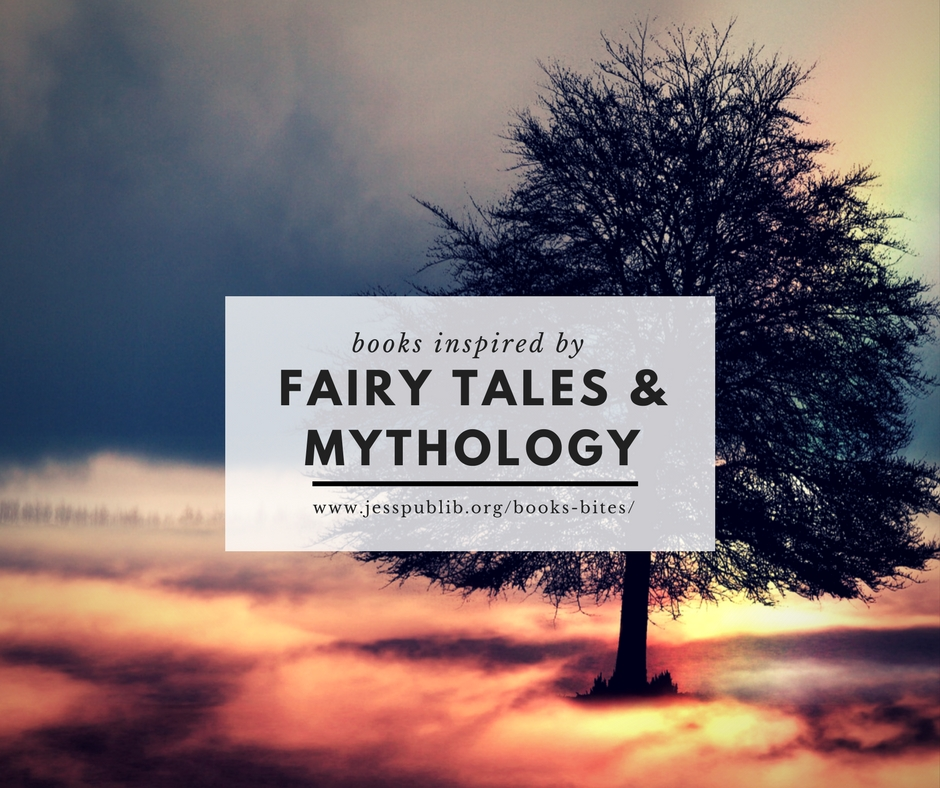 Photo of a tree with the words Fairy Tales and Mythology
