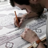 FULL-SCALE CARPET DRAWN BY HAND