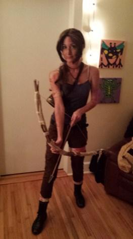 Halloween, 2014, Lara Croft from Tomb Raider (2013).