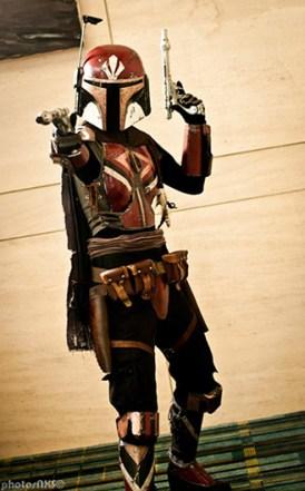 Mandalorian cosplay.