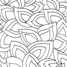 Leaves - $.025 per square inch. Looks beautiful by itself as an all-over or blended with the flowers design.