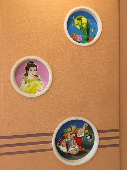 I was suprised to see some Disney paintings on the wall