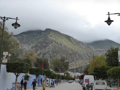 The surrounding mountains