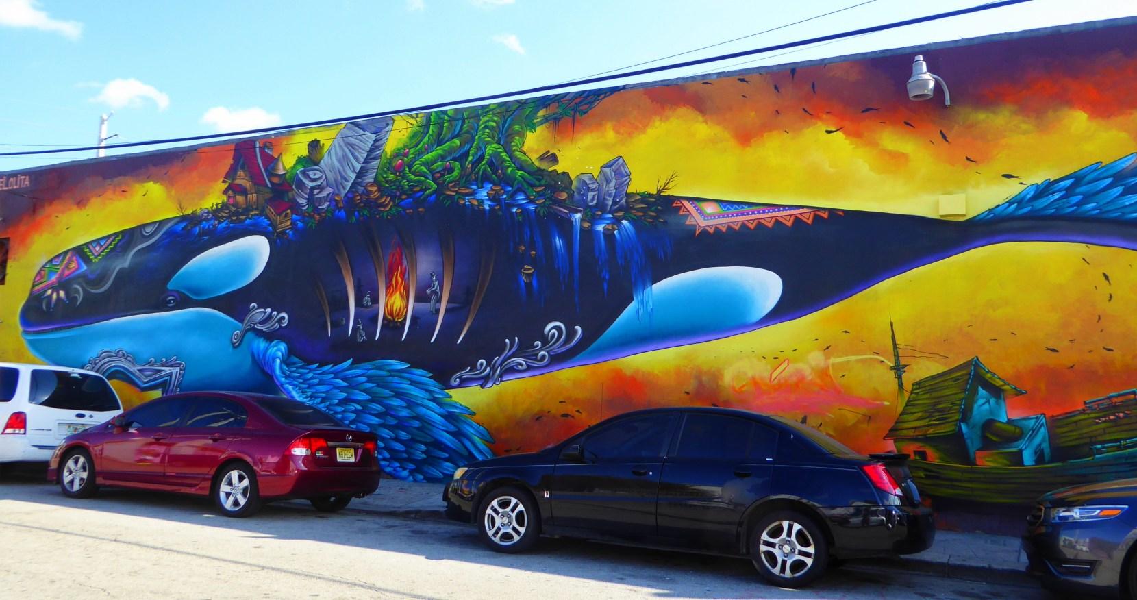 wynwood walls miami florida street art colourful killer whale