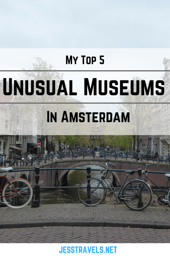 My Top 5 Unusual Museums in Amsterdam. Ideas for things to do in Amsterdam, The Netherlands.