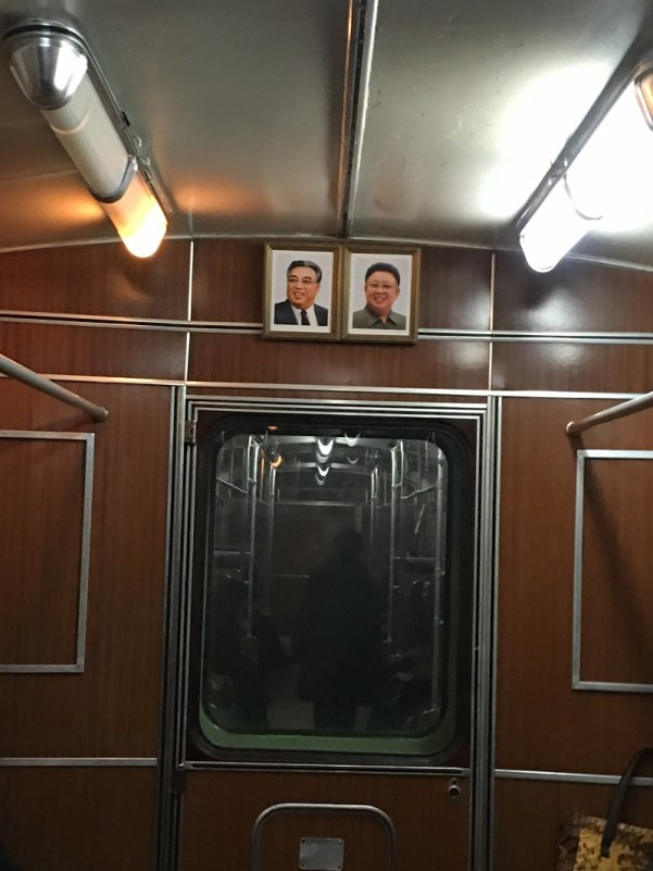 inside pyongyang metro train