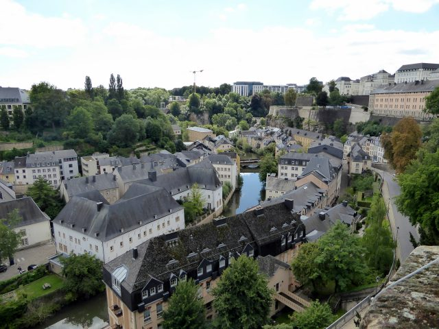 luxembourg city view houses