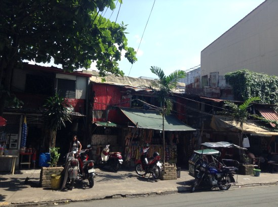 Some homes of those living in poverty in the Old Town
