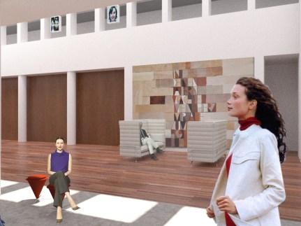 Foyer Wartebereich mit Wollner-Teppich