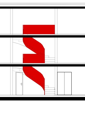 Schnittansicht Treppe