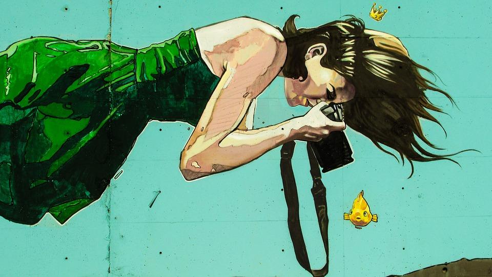 kobieta graffiti