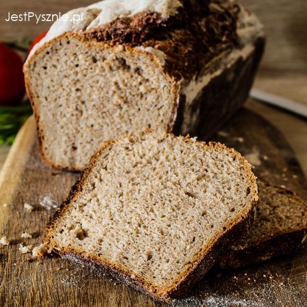 Chleb na zakwasie z mąką pełnoziarnistą