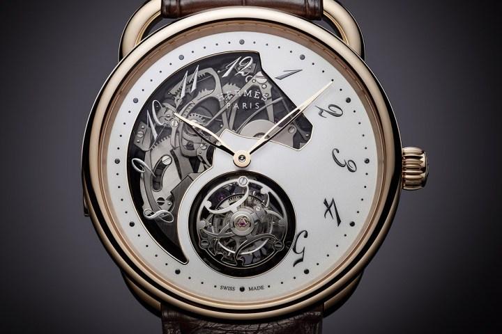 Arceau Lift tourbillon répétition minutes   © Hermès