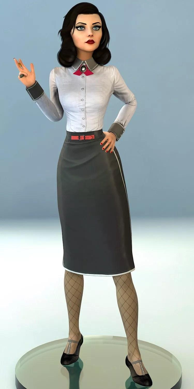 Bioshock Infinite Statue Elizabeth Noir