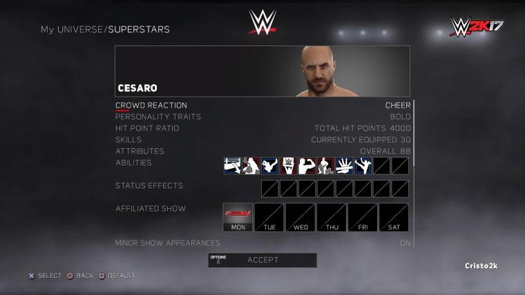 Test de WWE 2K17 : Focus sur le mode WWE Universe