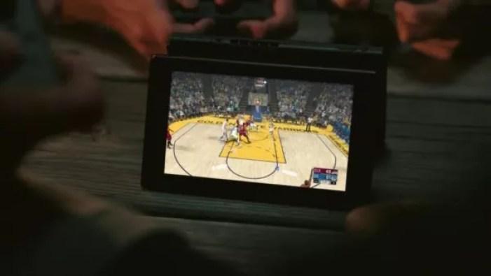 Jeu de NBA pour la Nintendo Switch