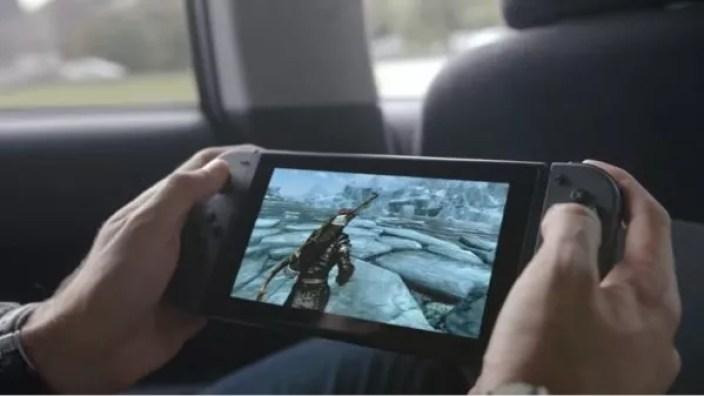 Aperçu de Skyrim sur Nintendo Switch