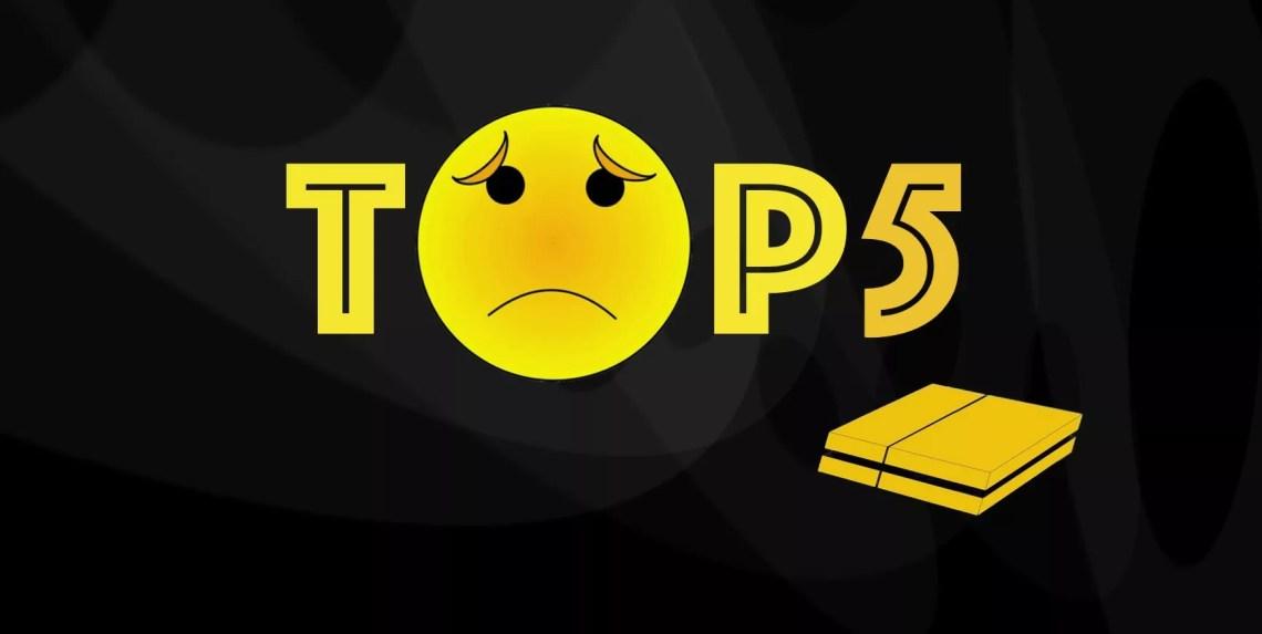 TOP 5 des plus mauvais jeux sortis sur PS4 à ce jour