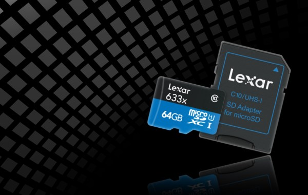 Test de la carte Lexar® High-Performance 633x microSDHC™/microSDXC™ UHS-I 64 Go