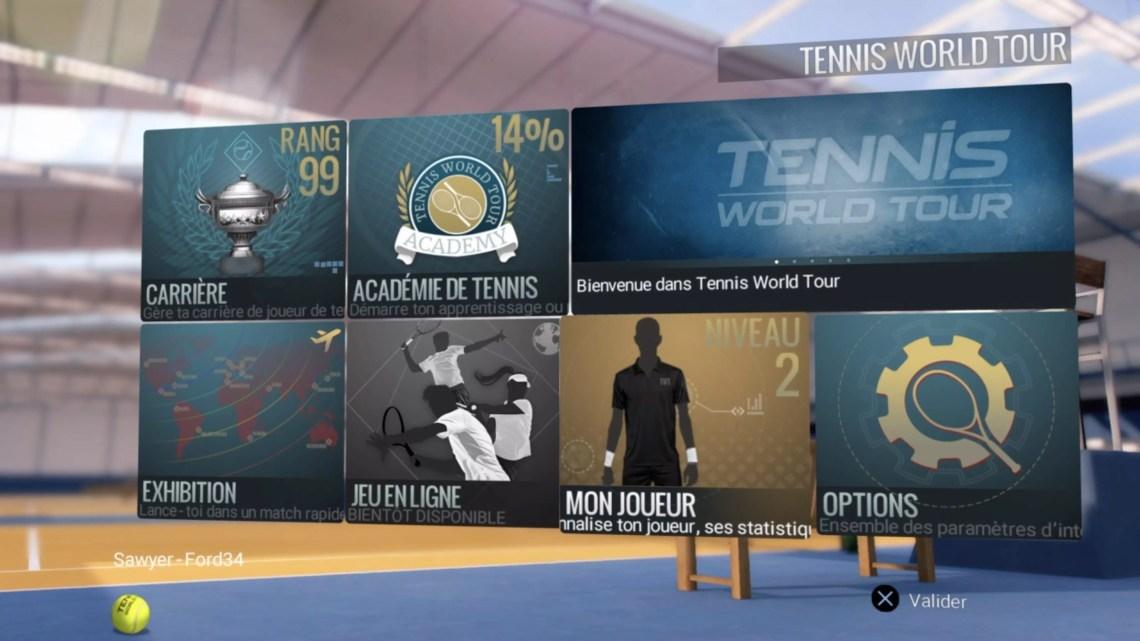 test de Tennis World Tour (PS4)