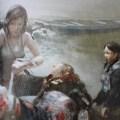 Artwork de Shadow of the Tomb Raider : Lara vient en aide aux autochtones
