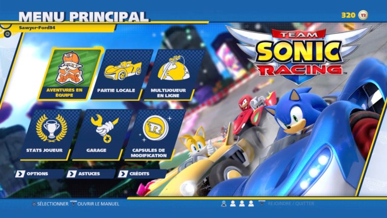 avis Team Sonic Racing