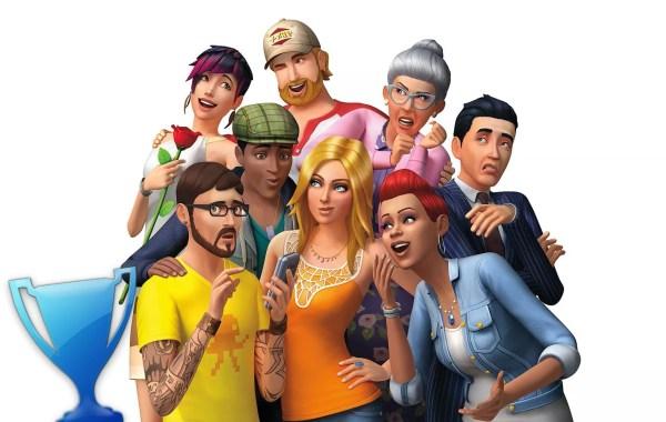 trophée platine des Sims 4 (PS4)