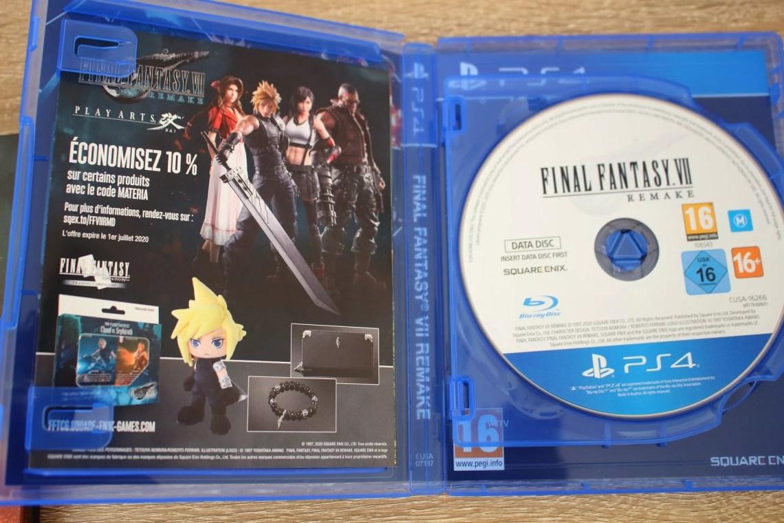Jeu PS4 Final Fantasy VII Remake
