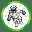 Trophée Au firmament de sa carrière (Faire atteindre le plus haut niveau de la carrière Astronaute à un Sim)