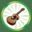 Trophée Avoir six cordes à son arc (Faire atteindre le plus haut niveau de la compétence Guitare à un Sim)