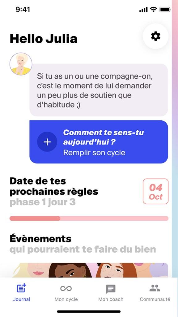 cycle menstruel Mélanie Domergue