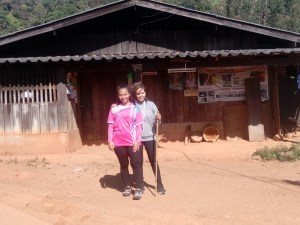 We hiked 13 miles to the top of a mountain and visited a small Hmong village.